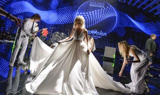 Полина Гагарина продемонстрировала платье для «Евровидения»