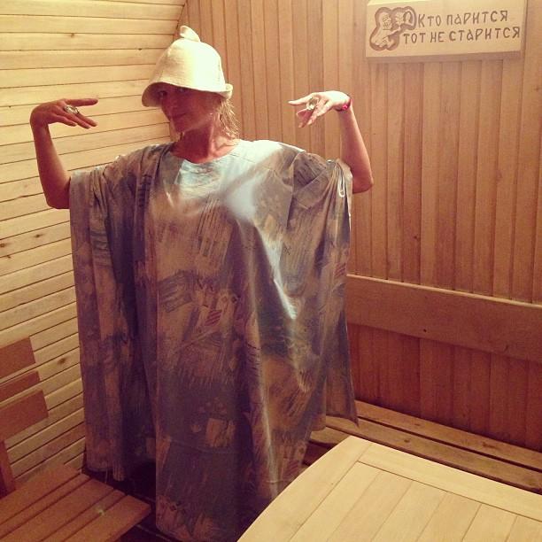 Фото блондинок в бане