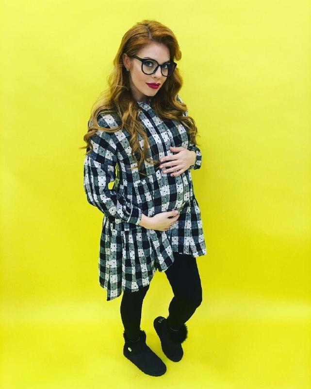 Анастасия стоцкая беременная фото